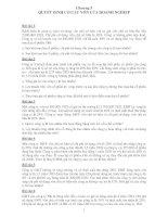 Bài tập tài chính doanh nghiệp   chương 5  quyết định cơ cấu vốn