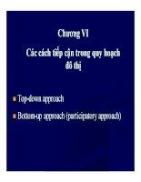 Bài giảng quy hoạch và quản lý đô thị  chương 6