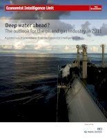 Deep water ahead the outlook for the oil and gas industry in 2011