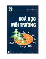 Ebook hóa học môi trường (tập i)  phần 1   PGS TS  đặng kim chi