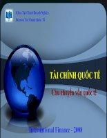 Bài giảng tài chính quốc tế   chương 8  chu chuyển vốn quốc tế