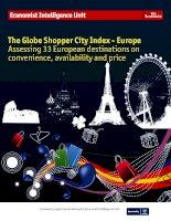 The globe shopper city index   europe