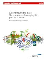 A way through the maze the challenges of maintaining UK pension schemes