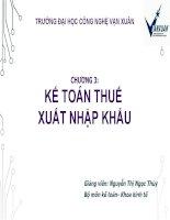 Bài giảng kế toán thuế  chương 3   GV  nguyễn ngọc thủy
