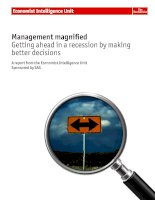 Management magnified getting ahead in a recession by making better decisions