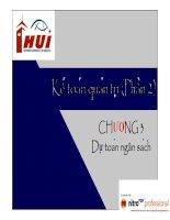 Bài giảng kế toán quản trị  chương 3   đh công nghiệp TP HCM
