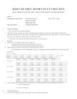 Báo cáo thực hành vật lý chất rắn   bài 3 khảo sát đường đặc trưng vôn   ampe của diot bán dẫn