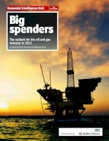 Big spenders the outlook for the oil and gas industry in 2012