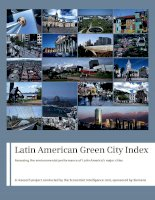 Latin american green city index assessing the environmental performance of latin americas major cities