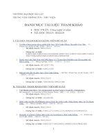 Danh mục tài liệu tham khảo học phần công nghệ vi nấm   đại học đà lạt