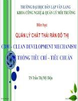 Bài giảng  quản lý chất thải rắn đô thị   hệ thống tiêu chí, tiêu chuẩn (TS  trần thị mỹ diệu)