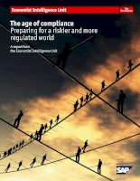 The age of complicance preparing for a riskier and more regulated world