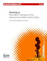Opening up how rd is changing in the telecommunications sector today