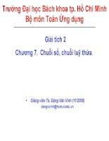 Bài giảng giải tích 2 (đh bách khoa tp HCM)   chương 7 chuỗi số, chuỗi lũy thừa