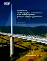 The changing face of infrastructure public sector perspectives