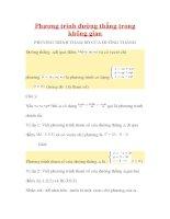 Bài tập phương trình đường thẳng trong không gian