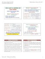 Bài giảng xác suất và thống kê cao đẳng   đh công nghiệp TP HCM