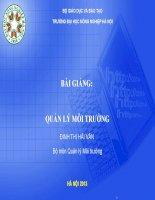 Bài giảng quản lý môi trường ( TS đinh thị hải vân)   chương 1