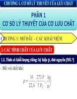 Bài giảng các quá trình cơ học   chương 1   cơ sở lý thuyết của lưu chất