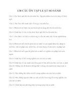 138 câu ôn tập luật so sánh
