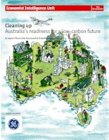 Cleaning up australias readiness for a low carbon future