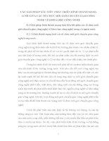 CÁC GIẢI PHÁP xúc TIẾN  PHÁT TRIỂN HÌNH THÀNH MẠNG lưới GIỮA các tổ CHỨC môi GIỚI CHUYỂN GIAO CÔNG NGHỆ về KHOA học CÔNG NGHỆ