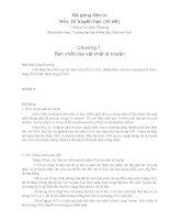 Bài giảng di truyền học  phần 1   GV  trương thị bích phượng