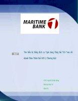 Tìm hiểu hệ thống dịch vụ tại ngân hàng TMCP hàng hải việt nam tại thừa thiên huế