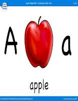 alphabet vocabulary flashcards set 1