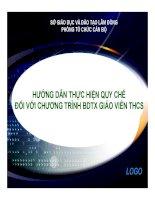 Báo cáo  hướng dẫn thực hiện quy chế đối với chương trình BDTX giáo viên THCS