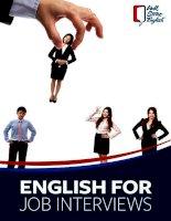 Tiếng anh khi đi phỏng vấn xin viêc (english for job interviews)