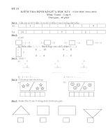 tuyển tập đề kiểm tra giữa kì 1 toán lớp 1