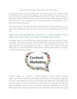 Làm content như thế nào cho hiệu quả
