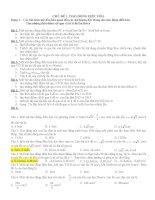 Các bài toán mở đầu liên quan đến các đại lượng đặc trưng cho dao động điều hòa Tìm những thời điểm vật qua vị trí li độ lần thứ n