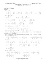 đề cương ôn tập học kì 1 toán 7 hay