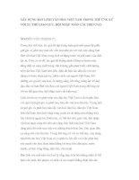 Đề tài  xây DỰNG bản LĨNH văn HOÁ VIỆT NAM TRONG THẾ ỨNG xử với XU THẾ GIAO lưu, hội NHẬP TOÀN cầu HIỆN NAY