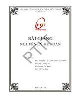 Bài giảng Nguyên lý kế toán  ThS. Nguyễn Thị Chinh Lam (Chủ biên)