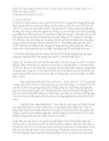MỘT số GIẢI PHÁP NÂNG CAO CÔNG tác GIÁO dục THỂ CHẤT và PHONG TRÀO HKPĐ