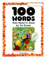 100 words kids need to read by 1, 2, 3 grade