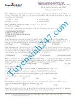 đề thi thử môn hóa  truong THPT chuyen su pham ha noi