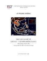 Một số vấn đề về lịch sử - Văn hóa Đông Nam Á (Bài giảng Chuyên đề  Tái bản lần thứ nhất có sửa chữa bổ sung