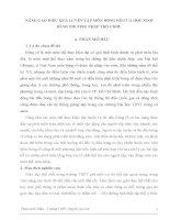 SKKN  NÂNG CAO HIỆU QUẢ LUYỆN tập môn BÓNG rổ của học SINH BẰNG PHƯƠNG PHÁP TRÒ CHƠI