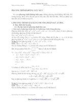 Tuyển chọn phương trình bậc cao và phương trinh vô tỉ không mẫu mực