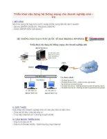 Triển khai xây dựng hệ thống mạng cho doanh nghiệp nhỏ