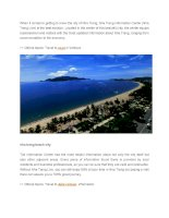 When it comes to getting to know the city of nha trang