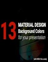 13 material design background colors for your presentation (rgbhex pdf template)