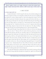 skkn PHÁT TRIỂN NĂNG lực học SINH QUA PHƯƠNG PHÁP dạy học THEO TÌNH HUỐNG TRONG môn GIÁO dục CÔNG dân 12