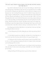 TỔ CHỨC HOẠT ĐỘNG NGOẠI KHÓA CHỦ ĐỀ MÔI TRƯỜNG TRONG DẠY HỌC ĐỊA LÍ
