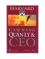 Cẩm nang quản lý và CEO   linda a  hill