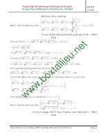 Tuyển tập phương trình, hệ phương trình vô tỉ có lời giải.